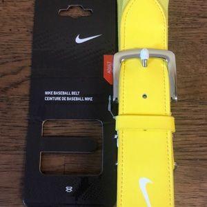 Nike Yellow Baseball Belt